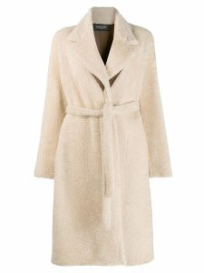 Simonetta Ravizza shearling long coat - Neutrals