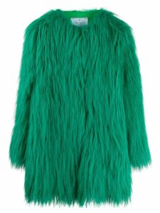 Prada textured fur coat - Green