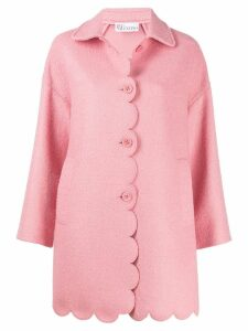 Red Valentino scalloped sing breasted coat - Pink