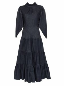 Chloé denim tiered midi dress - Blue