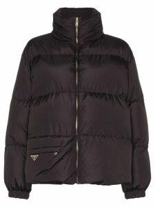 Prada padded puffer jacket - Black