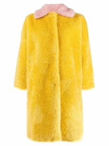 L'Autre Chose faux fur coat - Yellow