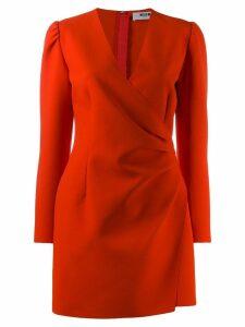 MSGM wrap mini dress - Red