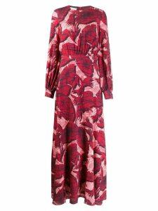 Stella Jean foliage print dress - Red