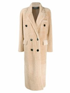 Simonetta Ravizza shearling double breasted coat - Neutrals