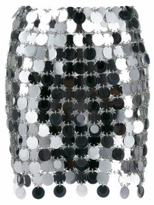 Paco Rabanne sequinned skirt - Silver