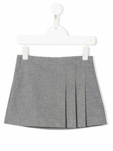 Il Gufo pleated mini skirt - Grey