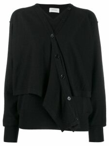 Lemaire layered button up cardigan - Black