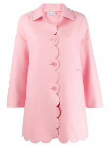 Red Valentino scalloped single-breasted coat - Pink