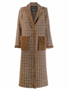 Simonetta Ravizza checked double breasted coat - Neutrals