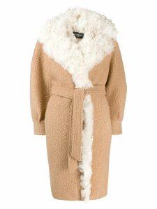 Simonetta Ravizza shearling oversized coat - Neutrals