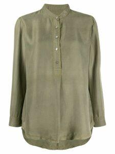 Raquel Allegra cargo twill blouse - Green