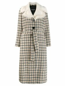 Simonetta Ravizza checked single breasted coat - Neutrals
