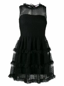 Red Valentino short frilled dress - Black