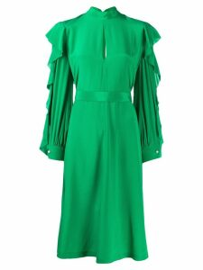 Golden Goose ruffle sleeve dress - Green