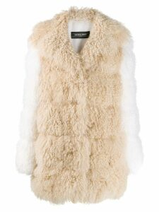 Simonetta Ravizza shearling mid-length coat - NEUTRALS