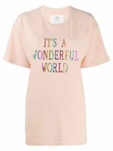 Alberta Ferretti It's A Wonderful World oversized T-shirt - Pink