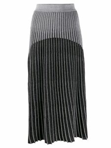 Balmain ribbed knit skirt - Black