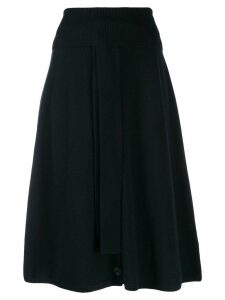 Joseph button front midi skirt - Black