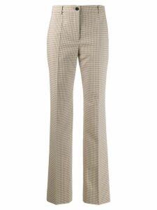 Nina Ricci tartan print trousers - Neutrals