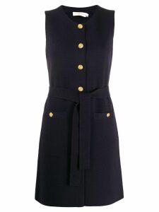 Tory Burch button up mini dress - Blue