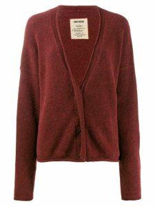 Uma Wang dropped shoulder cardigan - Red