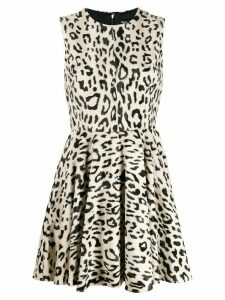 Dolce & Gabbana leopard print mini dress - Brown