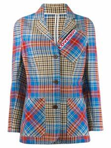 Charles Jeffrey Loverboy Shepherd tartan blazer - Blue