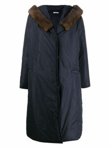 P.A.R.O.S.H. padded midi coat - Blue