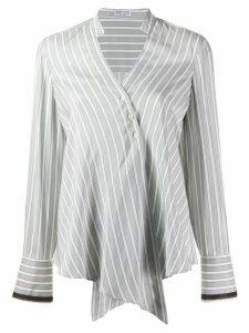 Brunello Cucinelli striped blouse - Grey