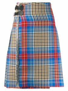 Charles Jeffrey Loverboy Shepherd tartan skirt - Blue