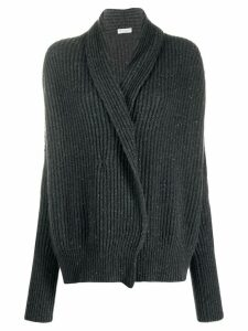 Brunello Cucinelli ribbed cardigan - Grey