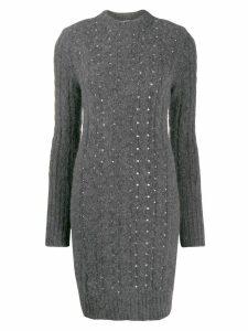Philosophy Di Lorenzo Serafini embellished knitted dress - Grey