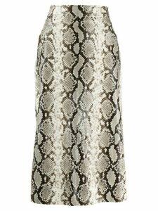 Dsquared2 python print midi skirt - Neutrals
