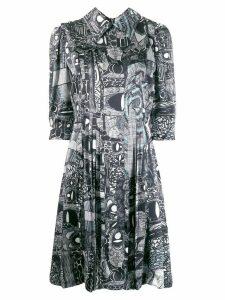 Charles Jeffrey Loverboy printed shirt dress - Black