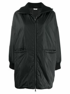 P.A.R.O.S.H. padded zip front coat - Black