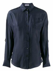Brunello Cucinelli panel blouse - Blue