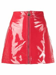 Chiara Ferragni vinyl zip skirt - Red