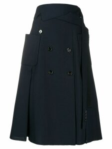 Golden Goose button trench skirt - Blue