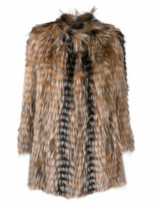 Yves Salomon short fur coat - Brown