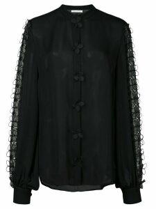 Oscar de la Renta floral lace blouse - Black