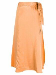 Forte Forte satin wrap skirt - Orange