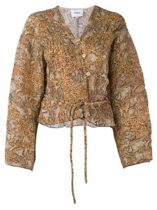 Nanushka Ehara snake print blouse - Brown