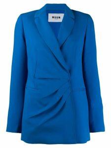 MSGM wrap front blazer - Blue
