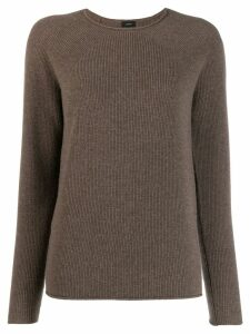 Joseph long sleeve knitted top - Brown