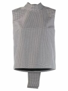 MSGM back bow check top - Grey