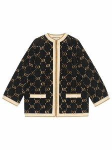 Gucci Knitted GG wool jacket - Black