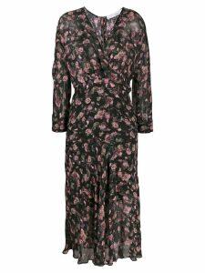 Iro floral print midi dress - Black