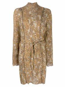 Nanushka Yai snake print dress - Brown