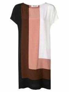 Diane von Furstenberg Danika colour-block dress - White